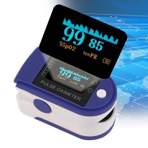 Fingertip Pulse Oximeter- Blood Oxygen SpO2 Saturation Monitor